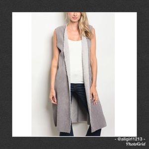 Jackets & Blazers - SALE Corduroy Shearling Longline Vest